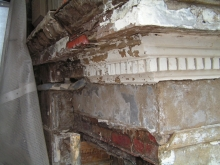 Necessary repairs to damaged portico ornaments