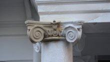 Installed stone ornament